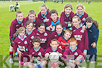 PRIMARY: Two Mile School National School Football Team from Fossa who played in the Killarney Garda Primary School seven a side competition in Spa last Friday. Included are Joe Blackwell, Oisin Murphy, Paudie Clifford, Jonathon Coffey, Corah McGlynn, Muireann Claffey, Amy Walsh, Liam Kerrisk, Aisling Coffey, Padraig ODonoghue, Adrian Walsh, Sinead Flynn, Mossie Prenderville, Grainne Wright, Emma OBrien and Lily Atkinson..