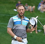 Cromwell, CT-23 JUNE 23 2017-062317MK06 Graham Delaet reacts after his double bogie on18th green Friday afternoon at the 2017 Travelers Championship at the TPC River Highlands in Cromwell. Delaet fell from second place to tie in eight place. Michael Kabelka / Republican-American