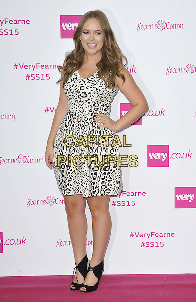 LONDON, ENGLAND - SEPTEMBER 11: Tanya Burr attends the Fearne Cotton for very.co.uk SS15 catwalk show, One Marylebone, Marylebone Rd., on Thursday September 11, 2014 in London, England, UK. <br /> CAP/CAN<br /> &copy;Can Nguyen/Capital Pictures