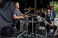 Pictured: Matthew Whitney of Fireroad. Saturday 13 July 2019<br /> Re: Stereophonics live concert at the Singleton Park in Swansea, Wales, UK.