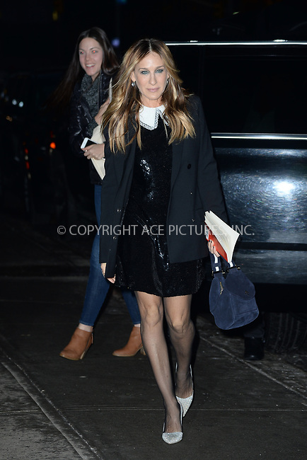 www.acepixs.com<br /> January 10, 2018 New York City<br /> <br /> Sarah Jessica Parker made an appearance on Build Series on January 10, 2018 in New York City.<br /> <br /> Credit: Kristin Callahan/ACE Pictures<br /> <br /> <br /> Tel: 646 769 0430<br /> e-mail: info@acepixs.com