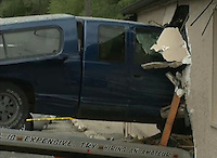 Pickup truck crashes into bar