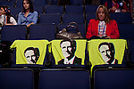 Republican National Convention attendees stake out seats atthe Tampa By Times Forum with Romney t-shirts in Tampa, Florida, August 30, 2012.
