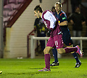 Arbroath's Dylan Carreiro celebrates after hescores their third goal.