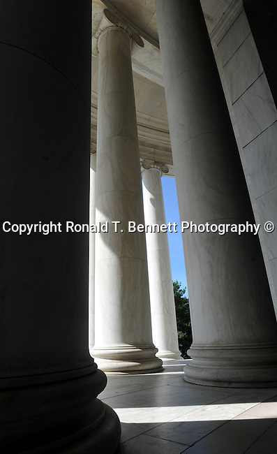 The Thomas Jefferson Memorial pillars Washington D.C., pillars, The Thomas Jefferson Memorial, Jefferson memorial, Presidential Memorial in Washington DC, Thomas Jefferson, American founding Father, Third President of the United States, neoclassical, Designed by John Russell Pope, Philadelphia, done, portico, Tidal, Basin, Potomac River, West Potomac Park, Washington monument, National Mall and Memorial Parks, List of America's Favorite Architecture, American Institute of Architects, U.S. National Register of Historic Places, U.S. National Memorial, Washington D.C., Ron Bennett Photography, Stock Photography, Fine Art Photography, Fine Art Photography by Ron Bennett, Fine Art, Fine Art photo, Art Photography,