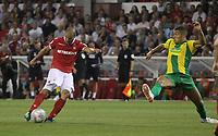 Nottingham Forest's Adl&egrave;ne Gu&eacute;dioura scores his sides first goal  <br /> <br /> Photographer Mick Walker/CameraSport<br /> <br /> The EFL Sky Bet Championship - Nottingham Forest v West Bromwich Albion - Tuesday August 7th 2018 - The City Ground - Nottingham<br /> <br /> World Copyright &copy; 2018 CameraSport. All rights reserved. 43 Linden Ave. Countesthorpe. Leicester. England. LE8 5PG - Tel: +44 (0) 116 277 4147 - admin@camerasport.com - www.camerasport.com