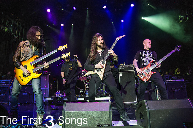 """Oli Herbert and Ron """"Bumblefoot"""" Thal of The Stowaways performs during the 2016 ShipRocked Cruise. ShipRocked set sail January 18-22, 2016, from Miami to Costa Maya, Mexico on the Norwegian Pearl."""