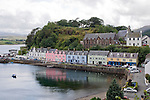 View of the harbor at Portree, the principal town of the Isle of Skye