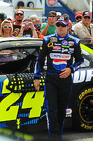 Apr 26, 2008; Talladega, AL, USA; NASCAR Sprint Cup Series driver Jeff Gordon during qualifying for the Aarons 499 at Talladega Superspeedway. Mandatory Credit: Mark J. Rebilas-US PRESSWIRE