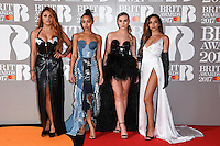 Little Mix<br /> arrives for the BRIT Awards 2017 held at the O2 Arena, Greenwich, London.<br /> <br /> <br /> &copy;Ash Knotek  D3233  22/02/2017