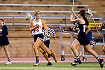 San Diego, CA 04/19/10 - Katie Trees (Torrey Pines #14) and Megan Lax (La Costa Canyon #13) in action during the Torrey Pines-La Costa Canyon Girls Lacrosse game at Torrey Pines.