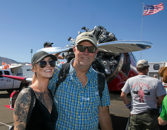 Kristen and Brandon Blankenship during the National Championship Air Races in  Reno, Nevada on Saturday, Sept. 14, 2019.