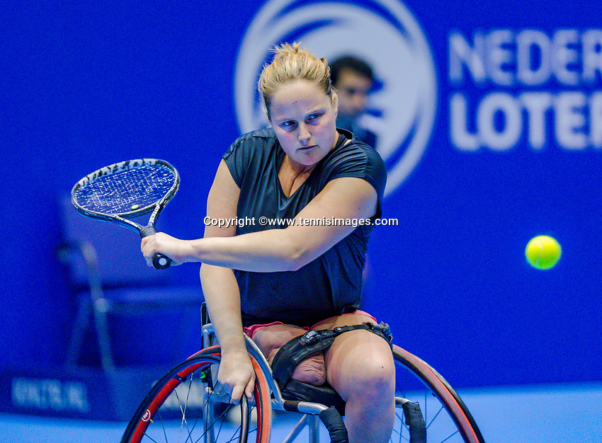 Rotterdam, Netherlands, December 17, 2017, Topsportcentrum, Ned. Loterij NK Tennis, Wheelchair woman's  final: Aniek van Koot (NED) <br /> Photo: Tennisimages/Henk Koster