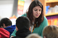 NWA Democrat-Gazette/J.T. WAMPLER Sabrina Arellano works students Tuesday May 7, 2019 at Lee Elementary School in Springdale. Arellano, a second-grade teacher, in 2011 became the first Hispanic teacher in the Springdale school system who had gone through the Springdale schools herself.