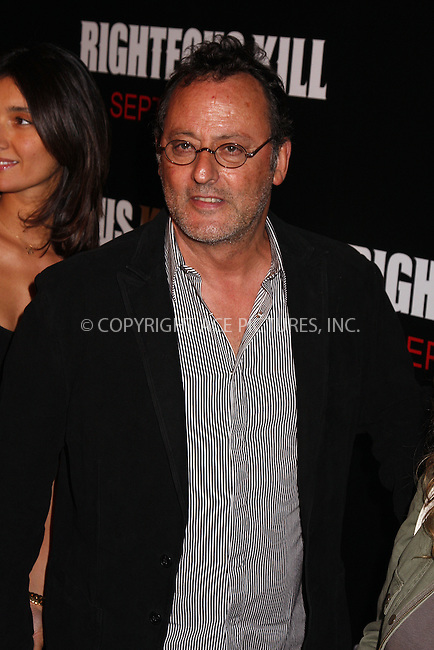 WWW.ACEPIXS.COM . . . . .  ....September 10 2008, New York City....Actor Jean Reno at the Premiere of 'Righteous Kill' at the Zeigfeld Theatre on September 10 2008 in New York City....Please byline: AJ Sokalner - ACEPIXS.COM..... *** ***..Ace Pictures, Inc:  ..te: (646) 769 0430..e-mail: info@acepixs.com..web: http://www.acepixs.com