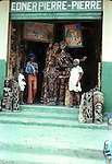 Haitian art store,Images of the capital,Port au Prince, Haiti 1975