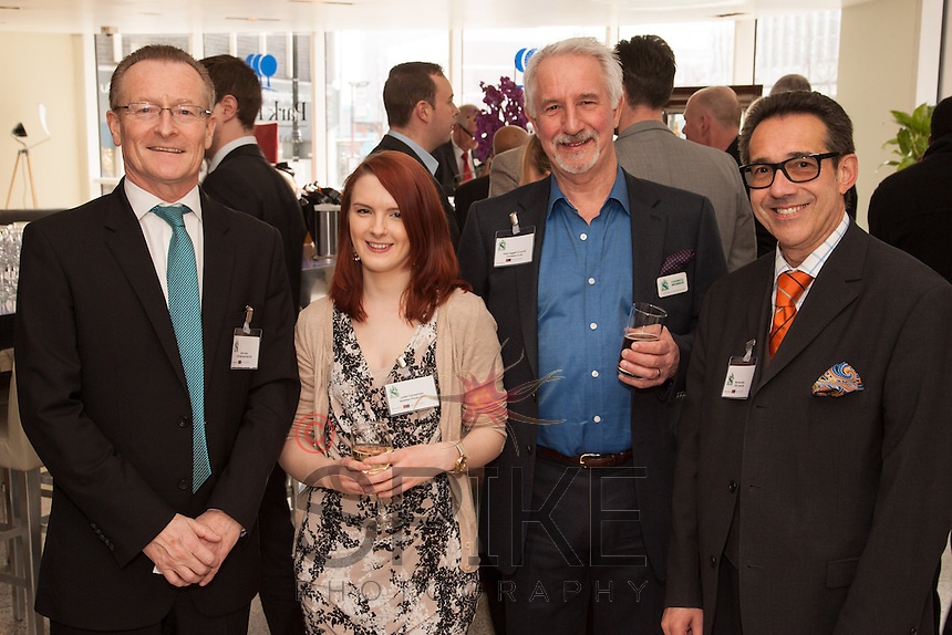 Pictured from left, Mark Dyer, Get Management, Lydia Cockerham, Skeleton Productions, Parry Leggett, Cockburn Lucas and Nick Max of CHC Land
