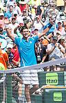 April 1 2016: Novak Djokovic (SRB) defeats David Goffin (BEL) by 7-6, 6-4 at the Miami Open being played at Crandon Park Tennis Center in Miami, Key Biscayne, Florida. ©Karla Kinne/Tennisclix/Cal Sports Media