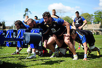 Nathan Catt of Bath Rugby looks on. Bath Rugby training session on May 3, 2016 at Farleigh House in Bath, England. Photo by: Patrick Khachfe / Onside Images