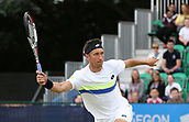 June 16th 2017, Nottingham, England; ATP Aegon Nottingham Open Tennis Tournament day 5;  Sergiy Stakhovsky of Ukraine in action against Thomas Fabbiano of Italy; Fabbiano won 4-6, 6-2, 7-6(5)