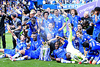 Chelsea manager celebrate winning the Premier League after the Premier League match between Chelsea and Sunderland at Stamford Bridge on May 21st 2017 in London, England. <br /> Festeggiamenti Chelsea vittoria Premier League <br /> Foto Leila Cocker/PhcImages/Panoramic/Insidefoto