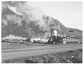 D&amp;RGW #483 with northbound Silverton train about to cross Highway 550 north of Hermosa.<br /> D&amp;RGW  Hermosa, CO