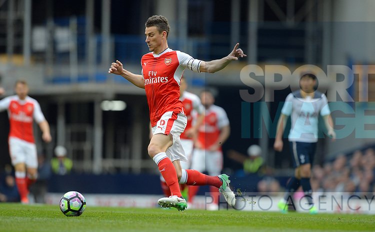 Laurent Koscielny of Arsenal during the English Premier League match at the White Hart Lane Stadium, London. Picture date: April 30th, 2017.Pic credit should read: Robin Parker/Sportimage