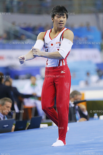 Shogo Nonomura (JPN), OCTOBER 7, 2014 - Artistic Gymnastics : 2014 World Artistic Gymnastics Championships <br /> Men's Team Final at the Guangxi Gymnasium in Nanning, China. (Photo by Yusuke Nakanishi/AFLO SPORT)