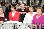 TEA DANCE: Sinead O'Sullivan, Sheila Morris, Sean Farrell, Mary McCarthy and Marie Farrell enjoying the Blackwater Women's Group Tea Dance in the Kenmare Bay Hotel on Sunday.