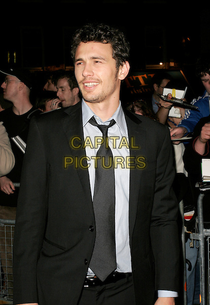 "JAMES FRANCO.Arrivals at the ""Spider-Man 3"" afterparty held at The Freemasons' Hall, Holborn, London, England..April 23rd, 2007.spiderman spider man half length black suit jacket stubble facial hair .CAP/AH.©Adam Houghton/Capital Pictures"