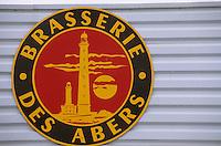 Europe/France/Bretagne/29/Finistère/Ploudalmézeau: Brasserie des Abers - Bière Mutine - Bière aux Algues Ouessane- Daniel Adam brasseur-détail enseigne