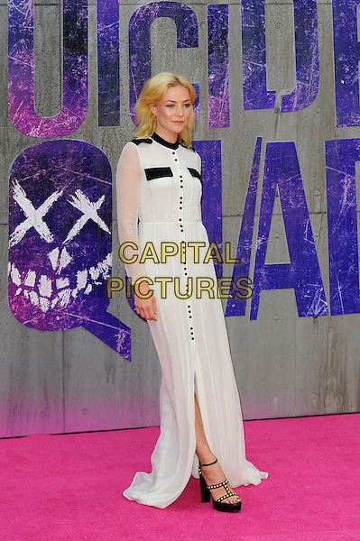 LONDON, ENGLAND - AUGUST 3: Clara Paget attending the 'Suicide Squad' European Premiere at Odeon Cinema, Leicester Square on August 3, 2016 in London, England.<br /> CAP/MAR<br /> &copy;MAR/Capital Pictures