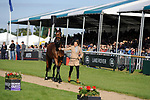 Stamford, Lincolnshire, United Kingdom, 8th September 2019, Sarah Bullimore (GB) & Reve Du Rouet during the 2nd Horse Inspection of the 2019 Land Rover Burghley Horse Trials, Credit: Jonathan Clarke/JPC Images