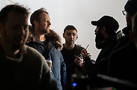 """Ray Panthaki – director and Ben Jacques producer of """"Ernie"""" filming at  Bower Park Academy, Havering Rd, Romford. Behind the scenes of the Uncertain Kingdom Project."""
