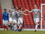 Lawrence Shankland celebrates his goal for Queen's Park