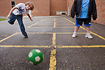 "Before the first bell rings, the ""four squarers"" are at work on the playground of Ben Franklin Middle School in Fargo, N.D. It's a school-day ritual for a small group of students."