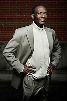 Johnnie Lindsey (cq), the 19th exoneree in Dallas County, in Dallas, Texas, February 24, 2011. Lindsey was wrongly convicted of aggravated rape in 1981 and served 26 years in prison before being exonerated and being released from prison on September 19, 2008 when he was 56 years old.<br /> <br /> Photo by Matt Nager