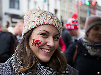 A Wales fan just after having fan after having face paint applied<br /> <br /> Photographer Simon King/CameraSport<br /> <br /> International Rugby Union - 2017 Under Armour Series Autumn Internationals - Wales v Australia - Saturday 11th November 2017 - Principality Stadium - Cardiff<br /> <br /> World Copyright &copy; 2017 CameraSport. All rights reserved. 43 Linden Ave. Countesthorpe. Leicester. England. LE8 5PG - Tel: +44 (0) 116 277 4147 - admin@camerasport.com - www.camerasport.com