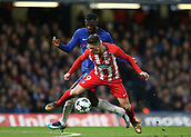 5th December 2017, Stamford Bridge, London, England; UEFA Champions League football, Chelsea versus Atletico Madrid; Tiemoue Bakayoko of Chelsea fouls Fernando Torres of Atletico Madrid from behind