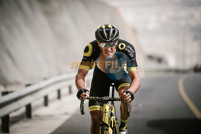 Damian Gaudin (FRA) Direct Energie from the breakaway group during Stage 4 of 10th Tour of Oman 2019, running 131km from Yiti (Al Sifah) to Oman Convention and Exhibition Centre, Oman. 19th February 2019.<br /> Picture: ASO/P. Ballet | Cyclefile<br /> All photos usage must carry mandatory copyright credit (© Cyclefile | ASO/P. Ballet)