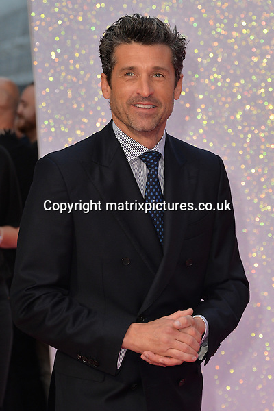 NON EXCLUSIVE PICTURE: MATRIXPICTURES.CO.UK<br /> PLEASE CREDIT ALL USES<br /> <br /> WORLD RIGHTS<br /> <br /> American &quot;Grey's Anatomy&quot; actor Patrick Dempsey attends the world premiere of &quot;Bridget Jones's Baby&quot; in which he also stars at Leicester Square in London.<br /> <br /> SEPTEMBER 5th 2016<br /> <br /> REF: JWN 162864