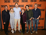 Michael Greif, Celia Keenan-Bolger, Stephen Kunken, Anita Gillette, Juan Castano and Bruce Norris attend the cast photo call for the Second Stage production of  'A Parallelogram' at the Second Stage rehearsal studios on June 29, 2017 in New York City.