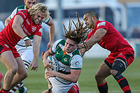 Jordy REID of Ealing Trailfinders during the Greene King IPA Championship match between Ealing Trailfinders and Jersey Reds at Castle Bar , West Ealing , England  on 22 December 2018. Photo by David Horn.