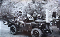 BNPS.co.uk (01202 558833)<br /> Pic: Bellmans/BNPS<br /> <br /> Their heavily armed jeeps mouted with Vickers machine guns and even bazookas caused mayhem behind enemy line.<br /> <br /> A fascinating trove of SAS records including some of the first photographs of the elite force which have never been seen before has been unearthed. <br /> <br /> The extensive assortment, also including medals and documents, was accumulated by war hero Lance Corporal William James Cooke at the end of World War Two. <br /> <br /> Remarkable images of Cooke's previously unrevealed wartime exploits show him serving behind enemy lines in occupied France and assisting with the liberation of Norway. <br /> <br /> His accomplishments have come to light after a family member presented the bequeathed collection to Hampshire-based auctioneer Bellmans, which will sell it tomorrow.