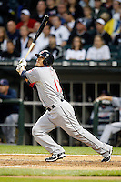 August 7, 2009:  Right Fielder Shin-Soo Choo (17) of the Cleveland Indians at bat during a game vs. the Chicago White Sox at U.S. Cellular Field in Chicago, IL.  The Indians defeated the White Sox 6-2.  Photo By Mike Janes/Four Seam Images