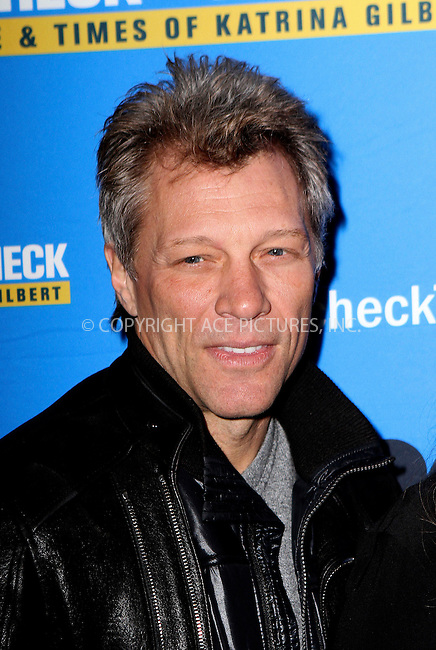 WWW.ACEPIXS.COM<br /> <br /> March 13 2014, New York City<br /> <br /> Jon Bon Jovi at the 'Paycheck To Paycheck: The Life And Times Of Katrina Gilbert' New York Premiere at HBO Theater on March 13, 2014 in New York City. <br /> <br /> By Line: Nancy Rivera/ACE Pictures<br /> <br /> <br /> ACE Pictures, Inc.<br /> tel: 646 769 0430<br /> Email: info@acepixs.com<br /> www.acepixs.com