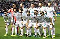 Real Madrid's team photo with Keylor Navas, Sergio Ramos, Toni Kroos, Carlos Henrique Casemiro, Karim Benzema, Gareth Bale, Marcelo Vieira, Isco Alarcon, Nacho Fernandez, Daniel Carvajal and Luka Modric during La Liga match. August 20,2017. (ALTERPHOTOS/Acero)<br /> Deportivo La Coruna - Real Madrid <br /> Liga Campionato Spagna 2017/2018<br /> Foto Alterphotos / Insidefoto <br /> ITALY ONLY