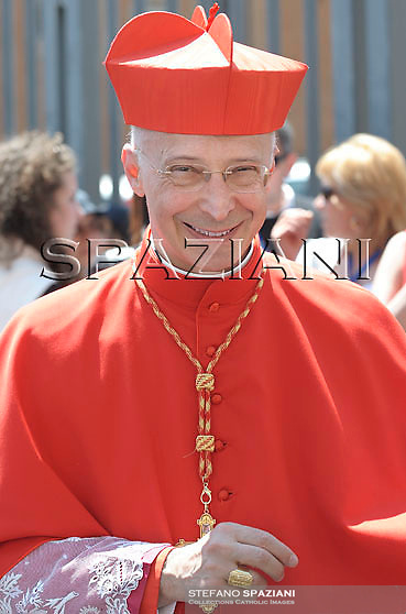 Cardinal Angelo Bagnasco  waves to the crowd gathered in Saint Peter's square before his Regina Coeli prayers at the Vatican May 4, 2008