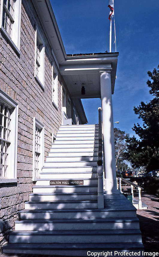 Colton Hall:  Stair detail.