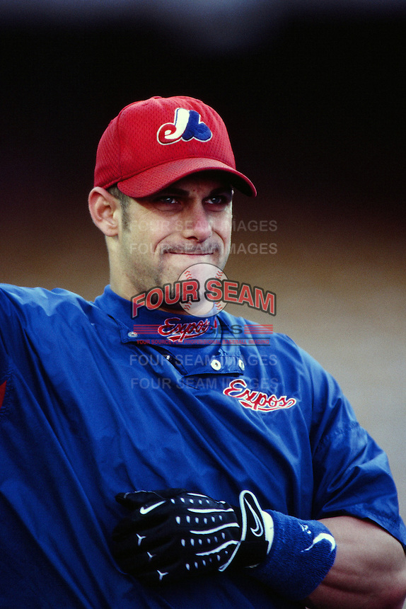 Brad Fullmer of the Montreal Expos during a game against the Los Angeles Dodgers at Dodger Stadium circa 1999 in Los Angeles, California. (Larry Goren/Four Seam Images)